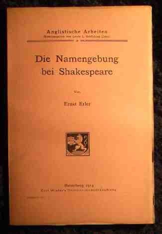9783533002116: Namensgebung bei Shakespeare.