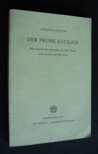 9783533021186 Der Frühe Lucilius Rekonstruktion Und Interpretation