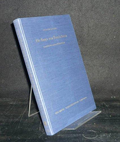 9783533023135: Die Essays von Francis Bacon: Literarische Form und moralistische Aussage (Anglistische Forschungen)