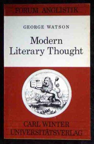 9783533027461: Modern literary thought (Forum Anglistik)