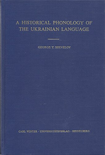 9783533027874: A historical phonology of the Ukrainian language (Historical phonology of the Slavic languages)