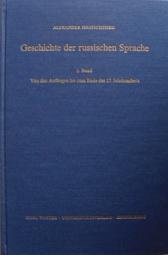 9783533029489: Geschichte der russischen Sprache, 1. Band