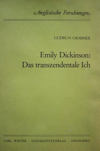 9783533030669: Emily Dickinson: Das transzendentale Ich (Anglistische Forschungen) (German Edition)