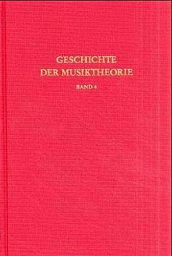 9783534012046: Geschichte der Musiktheorie, Bd.4, Die Lehre vom einstimmigen liturgischen Gesang
