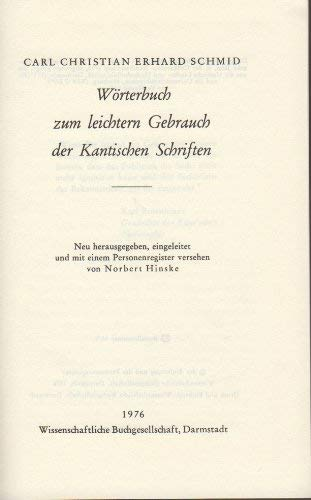 Kant-Seitenkonkordanz.: Hinske, Norbert u.