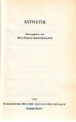AESTHETIK (Wege der Forschung): Henckmann, Wolfhart (Hrsg.)