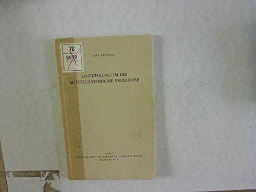 9783534053391: Einführung in die mittellateinische Verslehre.