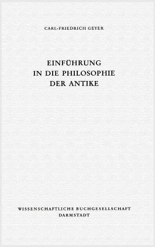 9783534059782: Einführung in die Philosophie der Antike