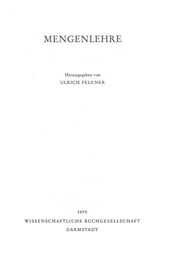 9783534067114: Mengenlehre (German Edition)