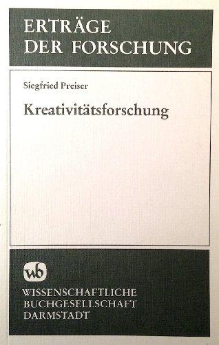 9783534070503: Kreativitatsforschung (Ertrage der Forschung ; Bd. 61) (German Edition)