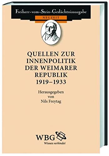 9783534075591: Quellen zur Innenpolitik der Weimarer Republik 1918-1933