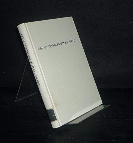 9783534076130: �bersetzungswissenschaft. (=Wege der Forschung; Band 535).