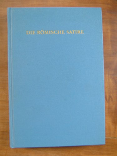 9783534078059: Die Römische Satire (Grundriss der Literaturgeschichten nach Gattungen)