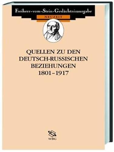 Quellen zu den deutsch-sowjetischen Beziehungen 1917 - 1945: Horst Günther Linke