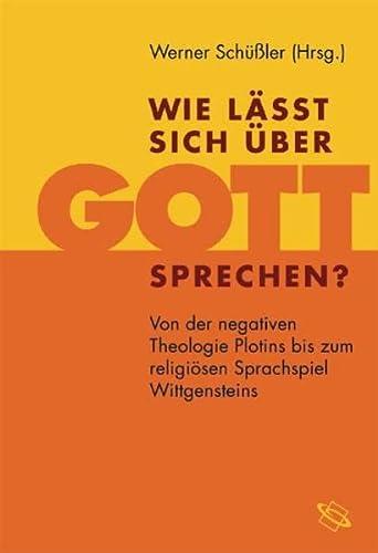 Wie läßt sich über Gott sprechen?: Werner Schüßler