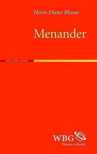 Menander (Paperback): Horst D Blume