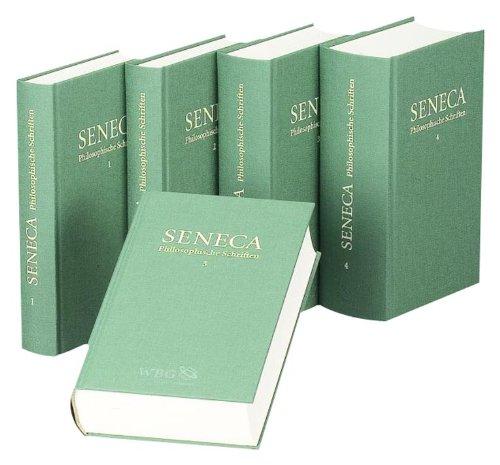 Philosophische Schriften, Band 1 - 5. Lateinisch und deutsch. - Seneca