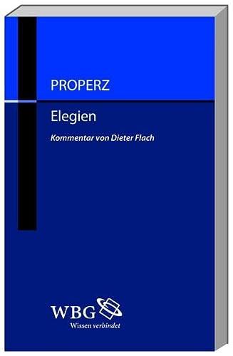Properz, Elegien (Kommentarband)