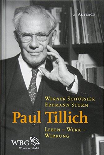 9783534262977: Paul Tillich: Leben - Werk - Wirkung