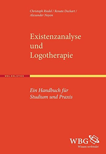 9783534265398: Existenzanalyse und Logotherapie: Ein Handbuch für Studium und Praxis