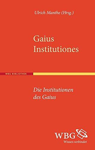 9783534266968: Institutionen - Institutiones