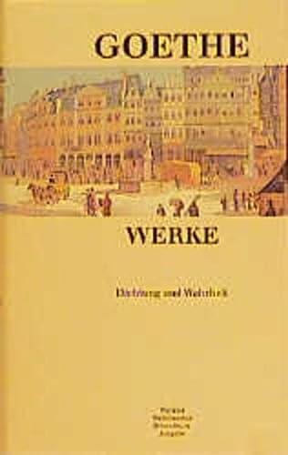 Aus meinem Leben. Dichtung und Wahrheit.: Wolfgang von Goethe: