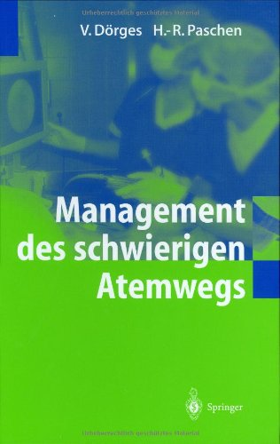 9783540000341: Management des schwierigen Atemwegs (German Edition)