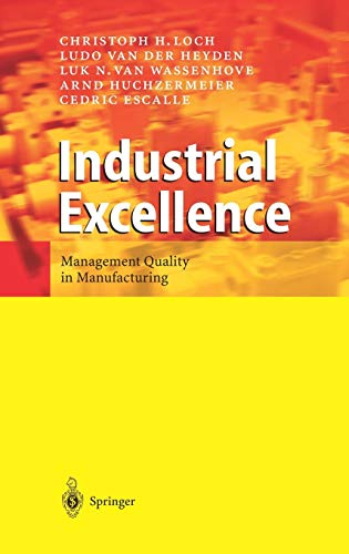 9783540002543: Industrial Excellence: Management Quality in Manufacturing