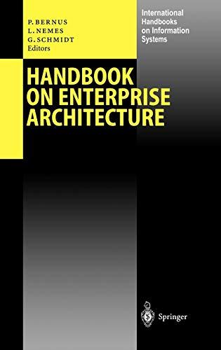 9783540003434: Handbook on Enterprise Architecture (International Handbooks on Information Systems)
