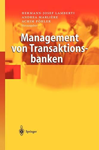 9783540006251: Management von Transaktionsbanken