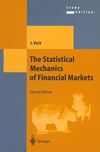 9783540009788: The Statistical Mechanics of Financial Markets (Texts and Monographs in Physics)