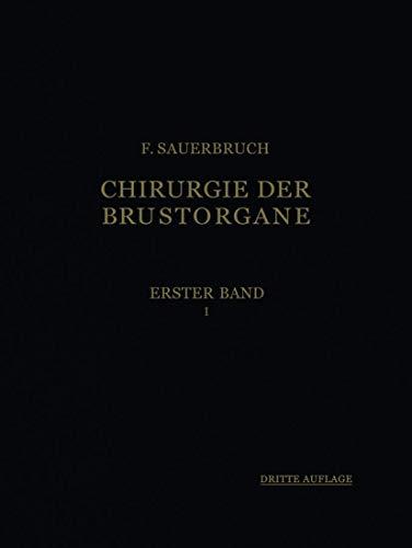 9783540010784: Die Chirurgie der Brustorgane (German Edition)