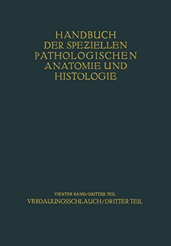 9783540010982: Verdauungsschlauch: Dritter Teil (Handbuch der speziellen pathologischen Anatomie und Histologie) (German Edition)