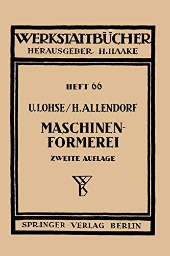 9783540015154: Maschinenformerei (Werkstattbücher)