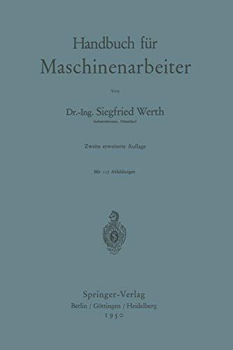 9783540015208: Handbuch f�r Maschinenarbeiter