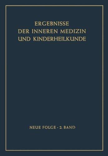 9783540015390: Ergebnisse Der Inneren Medizin Und Kinderheilkunde. Neue Folge / Advances in Internal Medicine and Pediatrics 2