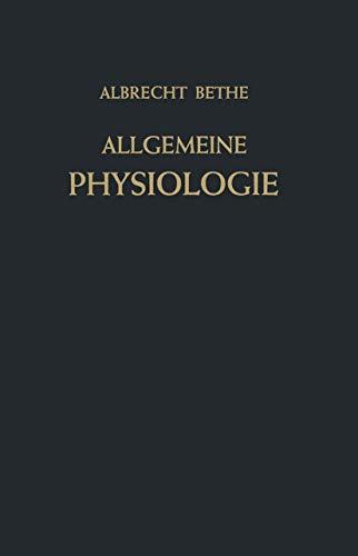 9783540016137: Allgemeine Physiologie (Handbuch der normalen und pathologischen Physiologie)