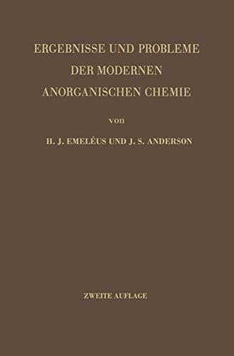 9783540017929: Ergebnisse und Probleme der Modernen Anorganischen Chemie (German Edition)
