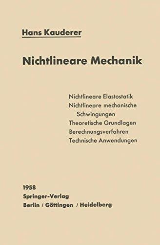 9783540023128: Nichtlineare Mechanik (German Edition)