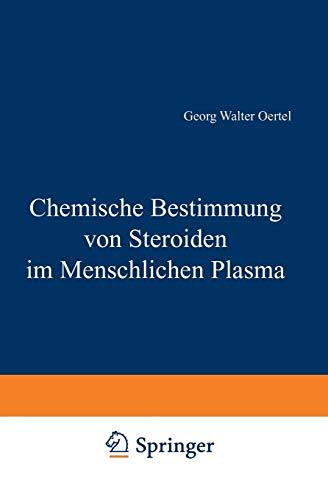 9783540028918: Chemische Bestimmung von Steroiden im Menschlichen Plasma