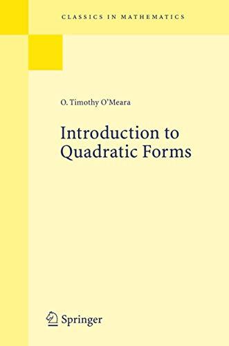 9783540029847: Introduction to Quadratic Forms (Grundlehren der mathematischen Wissenschaften)