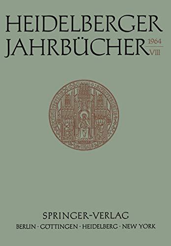 9783540031581: Heidelberger Jahrbücher (German Edition)