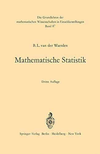 9783540033004: Mathematische Statistik