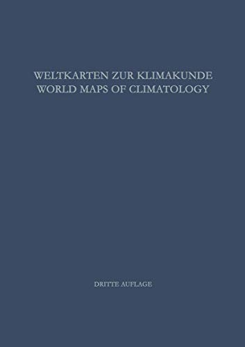 9783540036975: Weltkarten Zur Klimakunde World Maps