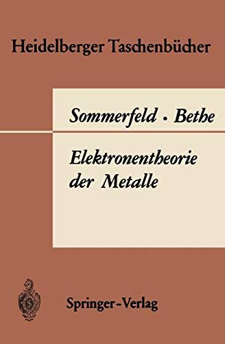 9783540038665: Elektronentheorie der Metalle (Heidelberger Taschenbücher) (German Edition)