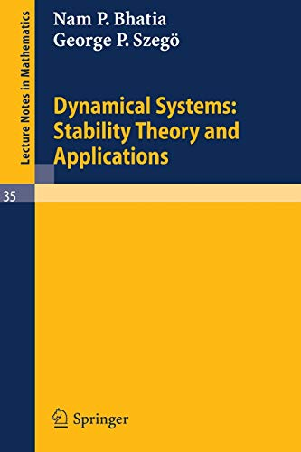 9783540039068: Dynamical Systems: Stability Theory and Applications (Lecture Notes in Mathematics)