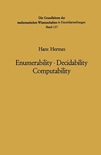 9783540045014: Enumerability · Decidability Computability: An Introduction to the Theory of Recursive Functions (Grundlehren der mathematischen Wissenschaften)