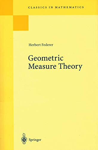 9783540045052: Geometric Measure Theory