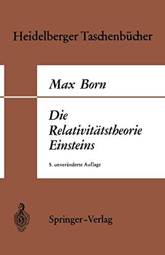 9783540045403: Die Relativitatstheorie Einsteins