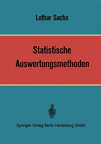 9783540046950: Statistische Auswertungsmethoden